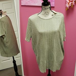 NWT 💕💕Laura Plus Ribbed Blouse Top